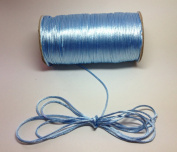 """200 Yards(600 Feet) - 2mm(1/16"""") Blue Mist Satin Rattail Cord Chinese/china Knot Rat Tail Jewellery Braid 100% Polyester"""