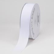 White Grosgrain Ribbon Solid Colour 5.1cm 50 Yards