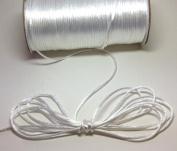 "200 Yards(600 Feet) White - 2mm(1/16"") Satin Rattail Cord Chinese/china Knot Rat Tail Jewellery Braid 100% Polyester"