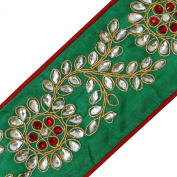 Green Craft Trim Simulated Stone Tape Sewing Royal Apparel Lace 1 Yard
