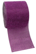 Purple Diamond Rhinestone Mesh Ribbon, Wedding Ribbon, Nappy Cake Ribbon, 12cm x 1 Yard, 24 Row