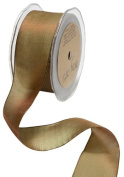 May Arts 1.3cm Wide Ribbon, Olive and Brown Iridescent