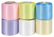 Hip Girl Boutique 30yd (6x 5yd) 3.8cm Satin Ribbon-Double Face--Combo--Pastel