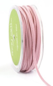 May Arts 0.3cm Wide Ribbon, Pink Suede String