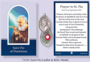 Rosarybeads2u Prayer Verse Card Saint St Pio With Silver Coloured Metal Medal