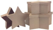 Paper Mache Star Box Set of 3