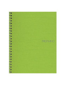 Fabriano EcoQua Notebooks spiral blank lime 15cm . x 21cm .