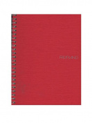 Fabriano EcoQua Notebooks spiral blank raspberry 15cm . x 21cm .