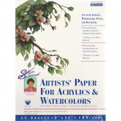 Martin/ F. Weber Susan Scheewe 23cm -by12-Inch Watercolour Paper Pad, 15-Sheet