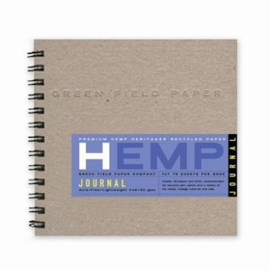 Hemp Journal Book, Medium 18cm x 18cm