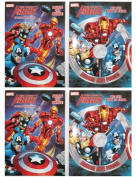"""Marvel Mighty Avengers (4 Pack) 96 pg Colouring & Activity Book """"Heroes Join Forces"""" & """"Saving The World"""""""