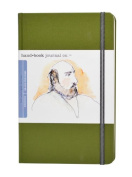 Global Art Materials 21cm by 14cm Drawing Book, Large Portrait in Cadmium Green