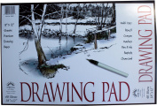 Norcom Drawing Pad, 46cm x 30cm , 40 Sheets, White
