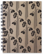 Hemp Heritage® Letterpress Journal- Poppy