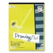 Mead Products - Drawing Pad, Heavy Weight, 23cm x 30cm , 24 Sheets White - Sold as 1 EA - Drawing pad contains archival-quality, heavyweight drawing paper. Each sheet is acid-free, lignin-free and fade-resistant. Laminated cover protects your drawings. ..