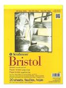 Strathmore 300 Series Bristol smooth 23cm . x 30cm . [PACK OF 2 ]