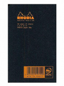 Rhodia Staplebound Notebooks graph, black cover 7.6cm . x 12cm . 24 sheets [PACK OF 10 ]
