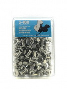 Moore Push Pins aluminium pack of 100 [PACK OF 2 ]
