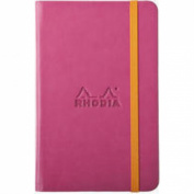 Rhodiarama A6 Lined Notebook Raspberry