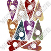 Nunn Design Collage Sheet Floral Hearts For Scrapbook - Fits Patera