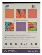 Grafix Clear .003 Dura-Lar Film, 23cm by 30cm , 25 Sheets