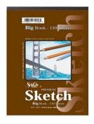 Premium Sketch Side Spiral Big Book (110 Sheets) Size
