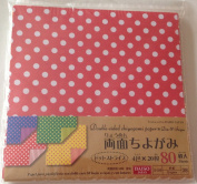 80 Sheets Chiyogami Double Sided Chiyogami Origami Paper - Dots and Stripes