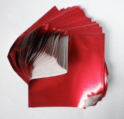 Foil Origami Paper- Red 8.9cm Square 100 Sheets
