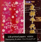 """Floral Print Paper - 3"""" (7.5 cm) 10 Colours"""