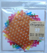 Unusual Chiyogami 'Pattern of Dots' Semi-translucent Japanese Origami Folding Paper - 32 Sheets
