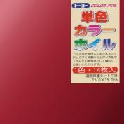 Toyo [Single Colour] Colour Foil - Red - 15.0cm, 14 Sheets