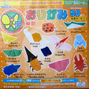 Insect Theme Japanese Origami Paper w/ Instructions & Eye Stickers 50 Sheets 32 Colours