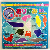 Origami Marine Life - Childrens - 12 Different Fish, 50 Pcs Paper, Includes Eye Stickers & English Instruction