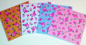 Origami Craft Paper Floral Design 50 Piece Set - Assorted Floral Patterns
