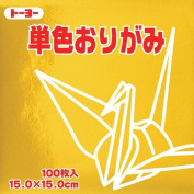 Toyo Origami Paper Single Colour - Gold - 15cm, 100 Sheets