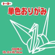Toyo Origami Paper Single Colour - Celadon - 15cm, 100 Sheets