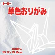 Toyo Origami Paper Single Colour - Silver - 15cm, 100 Sheets
