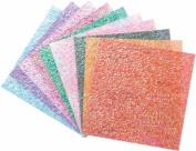 Folia Origami Paper 15cm x 15cm Textured Iridescent 50/Pkg-Crystal Embossing