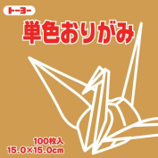 Toyo Origami Paper Single Colour - Golden Yellow - 15cm, 100 Sheets