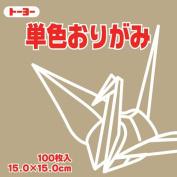 Toyo Origami Paper Single Colour - Light Ocher - 15cm, 100 Sheets