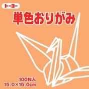 Toyo Origami Paper Single Colour - Light Orange - 15cm, 100 Sheets