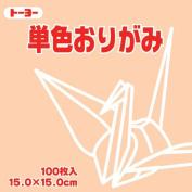 Toyo Origami Paper Single Colour - Beige - 15cm, 100 Sheets