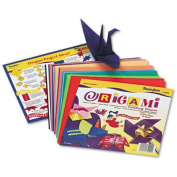 o Pacon o - Origami Paper, Instructions Incl, Ltwt, 9 x 9, Bright Colours, 40 Sheets/pk