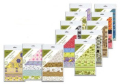 Shizen Design Decorative Collage Paper 8.9cm . x 14cm . to 22cm . x 14cm . assorted mini pack of 5 sheets