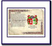 Castelo Coat of Arms/ Family History Wood Framed