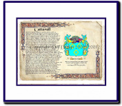 Cattarall Coat of Arms/ Family History Wood Framed