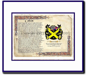 Colton Coat of Arms/ Family History Wood Framed