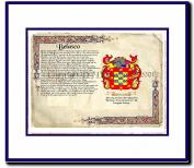 Belasco Coat of Arms/ Family History Wood Framed