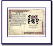 Bergman Coat of Arms/ Family History Wood Framed
