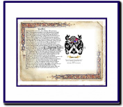 Buckley Coat of Arms/ Family History Wood Framed